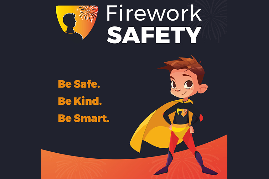 One of the main images being used in the Scottish firework safety campaign