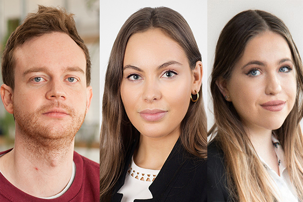 FTI Consulting's new recruits: Ben Craig, Esmé Hurry and Bella Bicket.