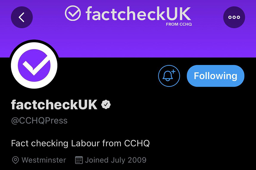 CCHQ misled voters by rebranding its Twitter account during last night's leadership debate