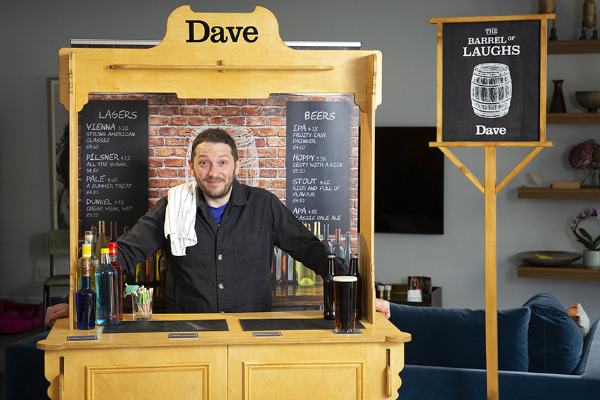 Comedian Jon Richardson sets foot in his new local boozer after months of lockdown