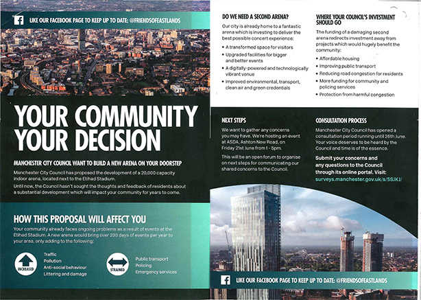The leaflet, produced by FleishmanHillard Fishburn, received a backlash from Manchester City Council.