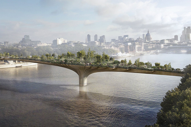 A design for the failed Garden Bridge project, which lost taxpayers more than £40m.