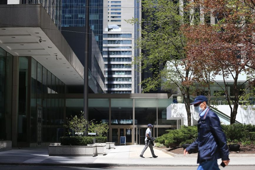 Hybrid work environments post-COVID are top of mind for business owners. (Credit: Rene Johnston/Toronto Star via Getty Images)