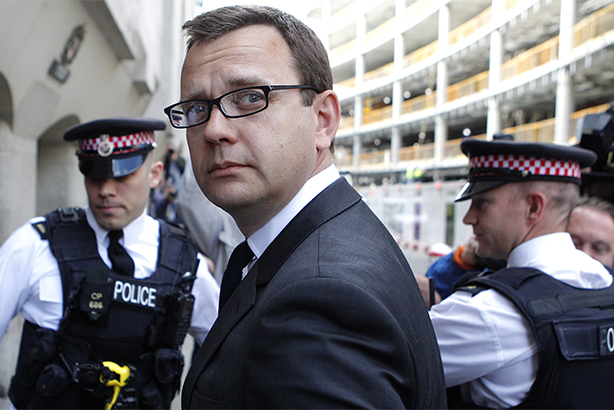 Coulson arrives at the Old Bailey for sentencing in 2014 (Credit: CYRIL VILLEMAIN/AFP/Getty Images)