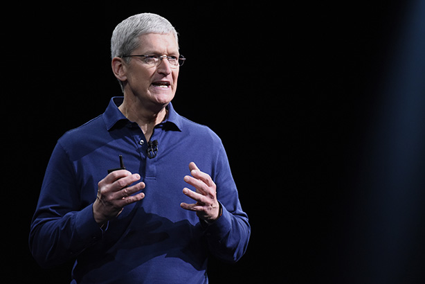 Apple chief executive Tim Cook is the most discussed on social media
