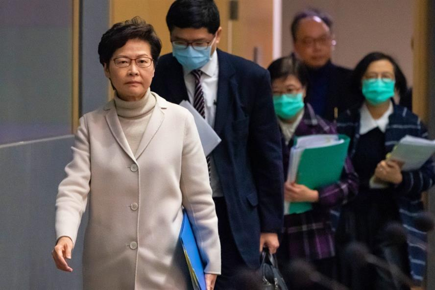 Hong Kong chief executive Carrie Lam's administration is concerned about Hong Kong's international image