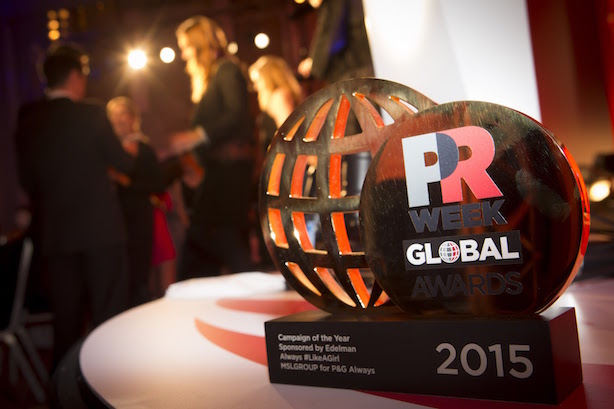 PRWeek Global Awards: A total of 20 awards were given out at the prestigious event