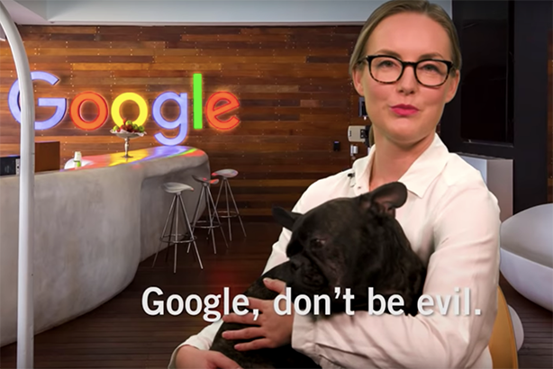 Amnesty International has rolled out a mock recruitment video for Google employees.