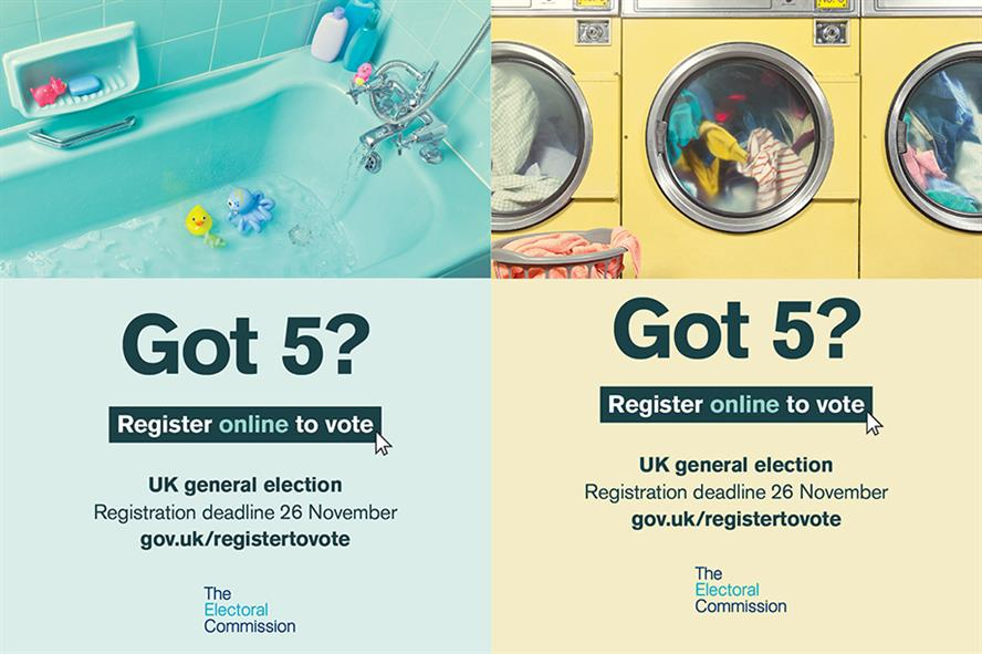 The Electoral Commission's campaign is aiming to entice two million people to register to vote by the deadline