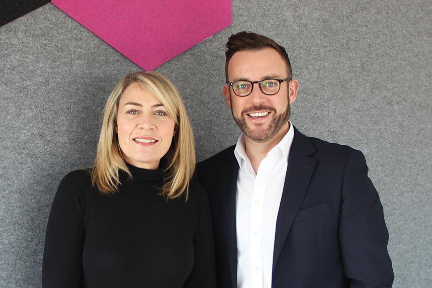 Grayling's Europe, UK & Ireland CEO Sarah Scholefield and corporate affairs head Peter Murray