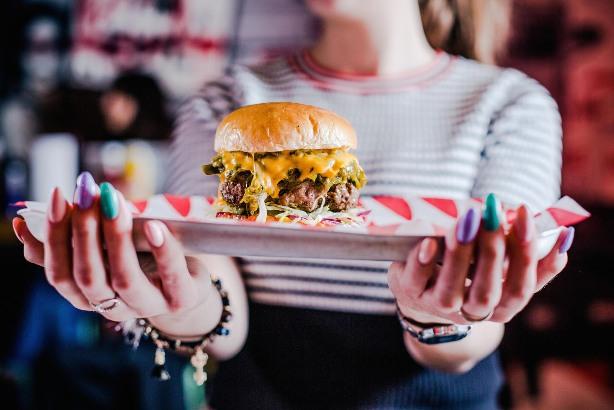 MEATliquor's green chili cheeseburger