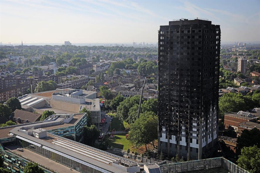 Grenfell insulation firm Kingspan used two lobbying firms in the wake of the fire (pic credit: Getty)