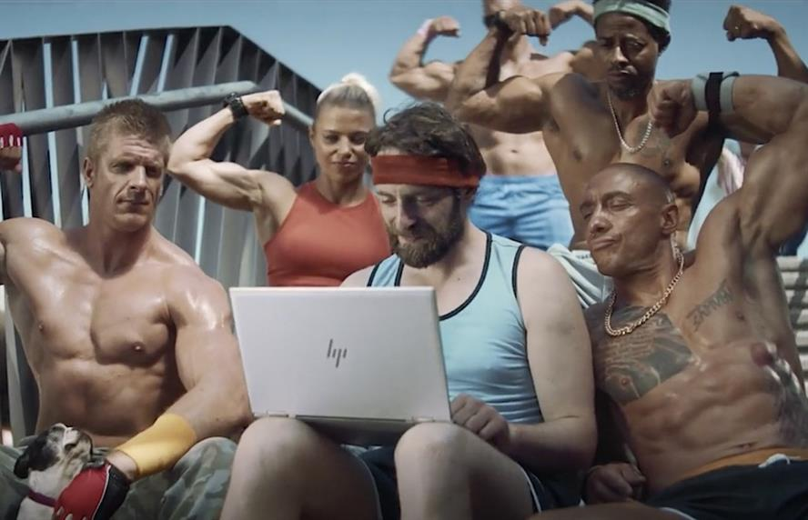 HP's latest ad campaign envisages a new world where people forsake the office and 'Work Anywhere.' (Credit: HP.)