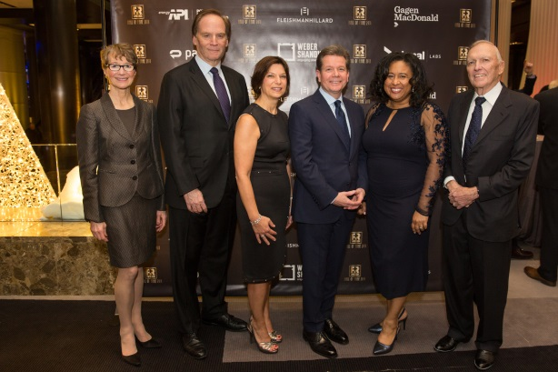 PRWeek's 2018 Hall of Fame honorees accept their awards on Monday night (Pic: Erica Berger).