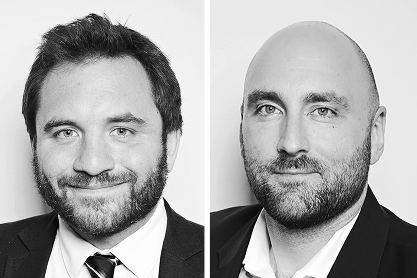(L-R) Nick Hargrave and Chris Hogwood have secured senior in-house roles at Deliveroo and Landsec