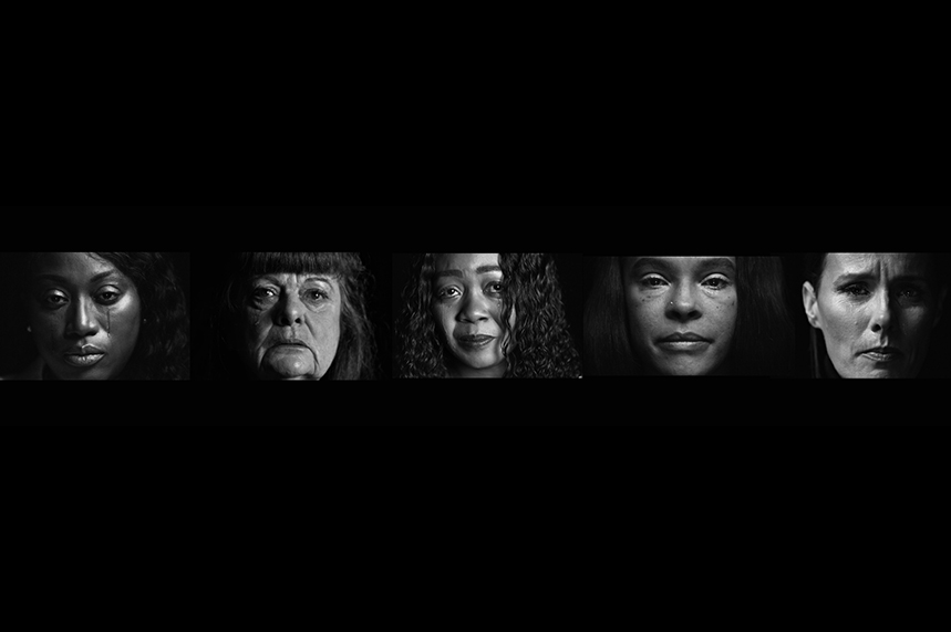 The five mothers taking part in the 'Hard calls save lives' campaign