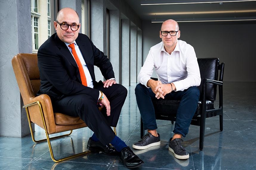 'A pivotal moment in Headland's development' - CEO Chris Salt (left) and managing partner Dan Mines