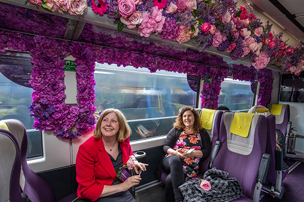 72Point partnered with Heathrow Express to launch the 'Flower Express'