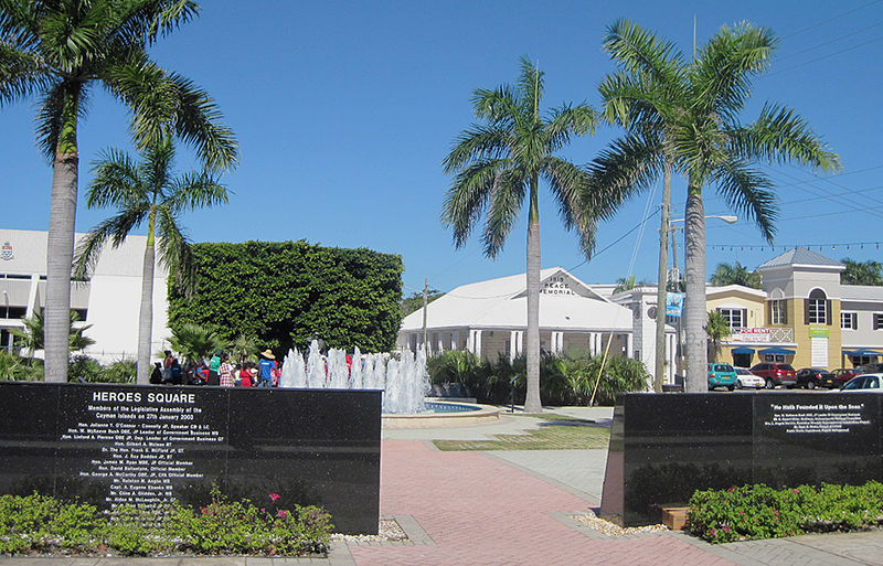 Cayman Islands: George Town's Heroes Square (picture credit Roger Wollstadt)