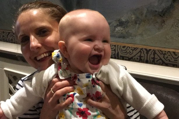 Holly Pither with baby Amelia has just returned from maternity leave at agency Bottle