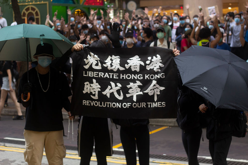 Hong Kong police briefed local media outlets about the involvement of a UK lobbying firm in pro-democracy demonstrations (pic credit: Getty)