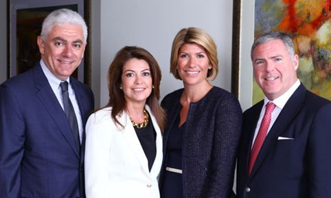 (Left to right) Robert Holdheim, Camilla d'Abo, Lucy d'Abo, Edelman global COO Matthew Harrington