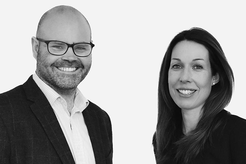 (L-R) Interel's new deputy managing partner, Will Wallace, and managing partner, Katherine Morgan