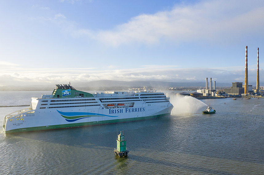 Irish Ferries operates routes between Ireland and Britain