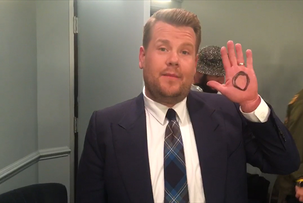James Corden has thrown his support behind the #IAMWHOLE campaign