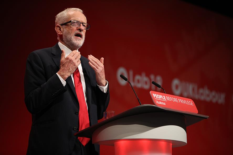 Jeremy Corbyn used his 2019 conference speech to set out his stall for a possible November general election (pic credit: Dan Kitwood/Getty Images)