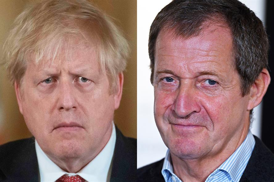 Be honest with the public and provide more detail, Alastair Campbell advises Boris Johnson