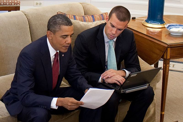 Fenway Strategies' founding partner Jon Favreau (r) was President Obama's speechwriting director