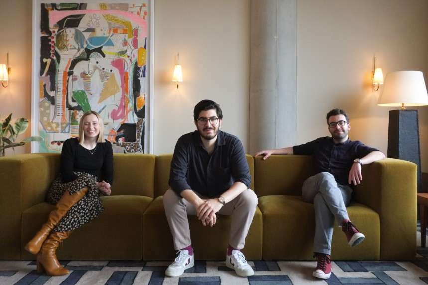 (L-R) Roach, Fekaiki, and COO Gwen Gilet
