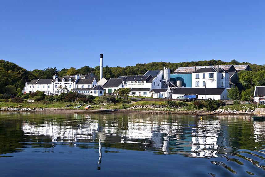 The Jura distillery is the major employer on the Inner Hebridean island