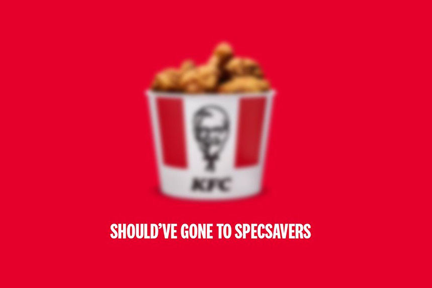 Specsavers suggested KFC try out its tagline