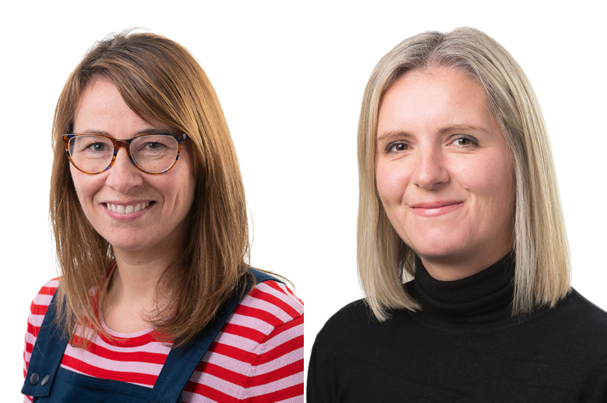 (L-R) Catherine Keddie and Tamsin Tierney have been promoted as part of changes to BCW UK's leadership