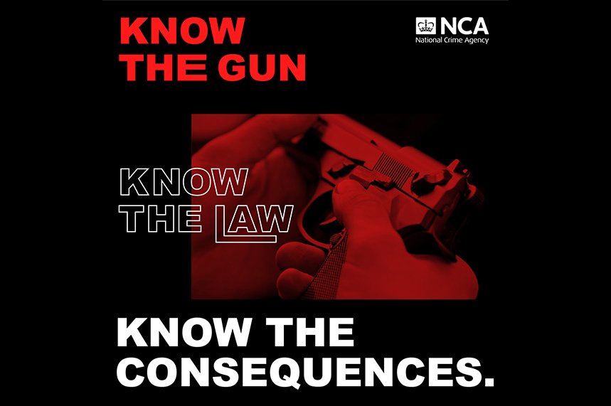 Materials for the NCA 'Know the consequences' campaign