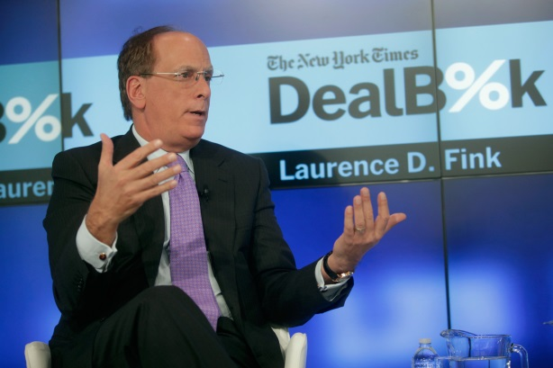 BlackRock CEO Larry Fink has exhorted companies to embrace purpose (Pic: Getty Images).