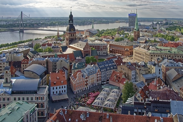 Latvia's capital Riga.