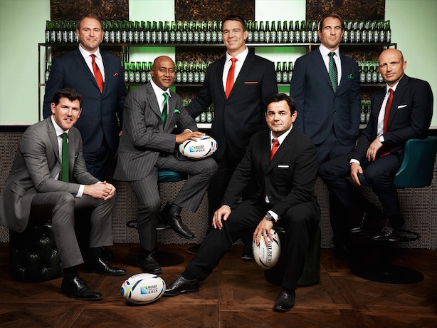 Heineken: Drafting in rugby legends for Rugby World Cup 2015 PR activities