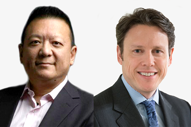 Jesse Lin, left, will be succeeded by Stephen Kehoe.