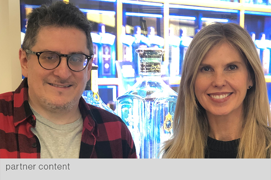 Bacardi's VP of global brand comms Lisa Jedan (r) hosted PRWeek's Gideon Fidelzeid in her London office