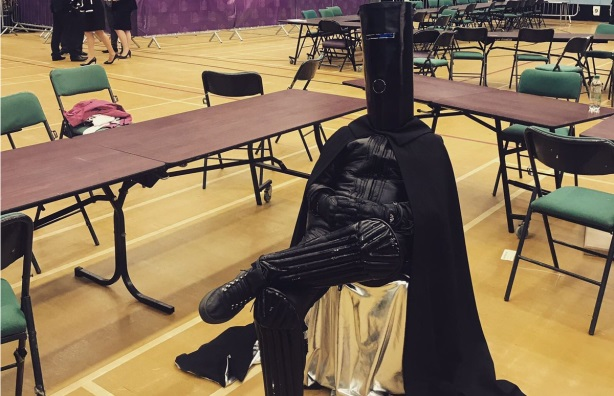 U.K. general election candidate Lord Buckethead makes a statement about modern politics.