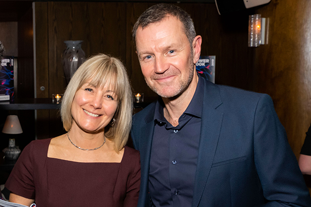 The Football Association's Louisa Fyans with PRWeek editor-in-chief Danny Rogers