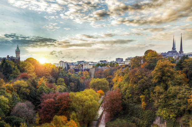 The Petrusse Valley, Luxembourg, in autumn Pic credit: Christophe Van Biesen.