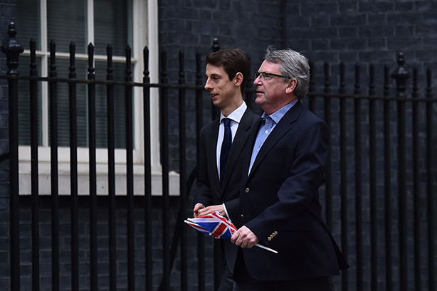 Lynton Crosby, right, has masterminded successful Conservative Party campaigns. (Photo: Ben Stansall/AFP/Getty Images)