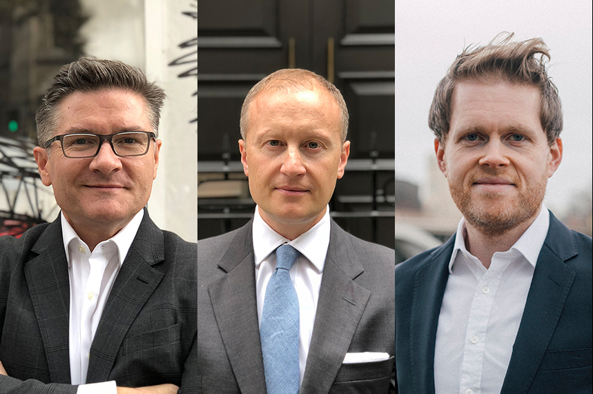 Engine MHP's revamped public affairs team: (left to right) James Gurling, Jamie Lyons and Nick Reid