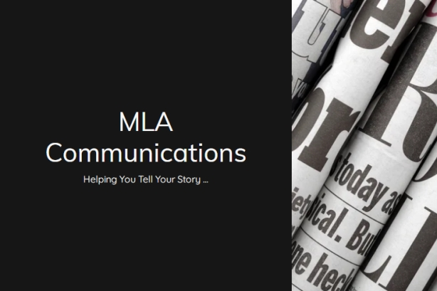 Screenshot of MLA Communications home page