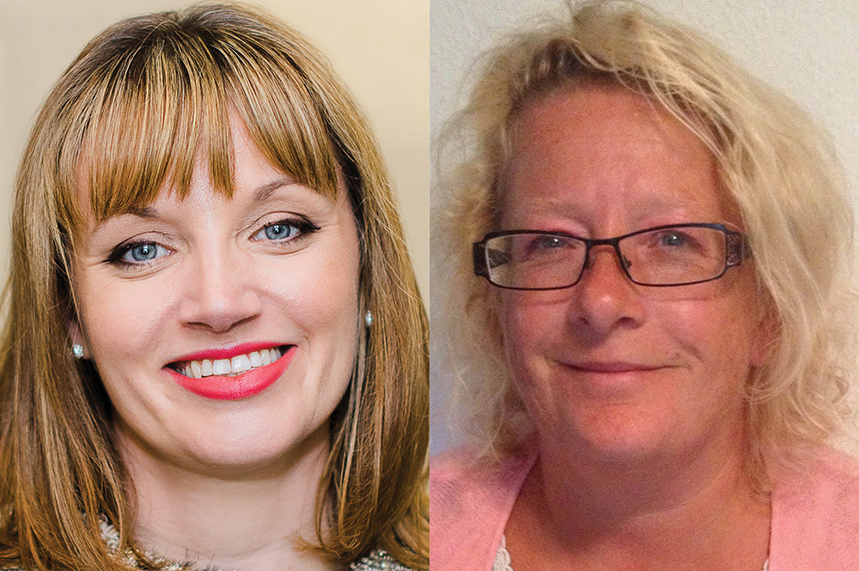 Rachel Royall, left, and Mandy Pearse are the candidates in this year's election for CIPR president