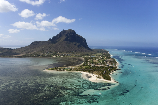 Account win: Le Morne, on the south west tip of Mauritius